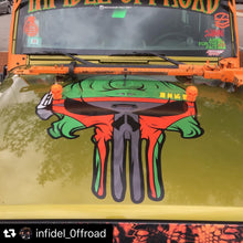 HoodSkulls® Aliens. Includes set of two. Jeep Wrangler Hood Accessory.