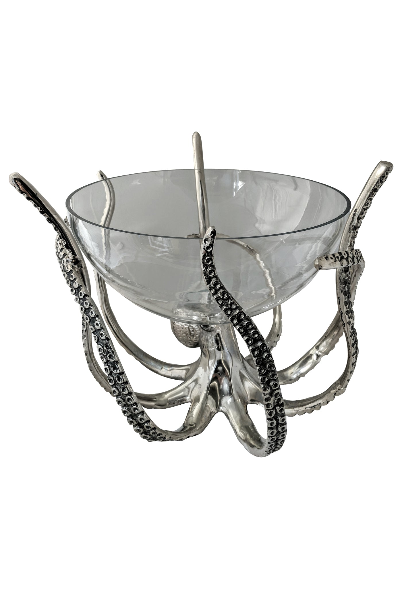 Octopus stand with glass bowl
