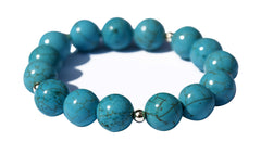 Turquoise and Solid 9ct Gold spacer Bead Extender Bracelet