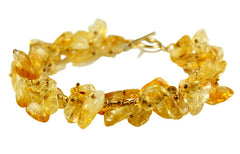 Citrine and 14ct rolled Gold designer Bracelet