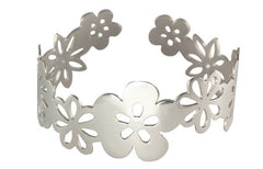 Handmade Solid Sterling Silver Summer flowers Cuff