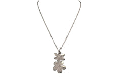 Solid Sterling Silver Flowers Pendant