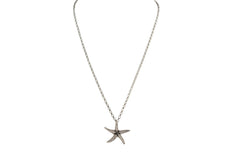 .999 Solid Silver Starfish Pendant