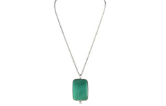 Turquoise & solid Sterling Silver Pendant