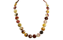 Mookaite and solid Sterling Silver spacer bead and clasp Necklace