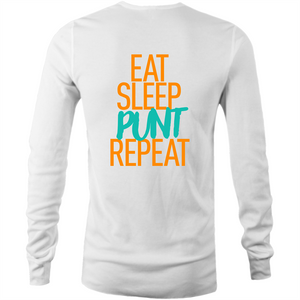 Eat Sleep Punt Repeat Colour  -  Long Sleeve