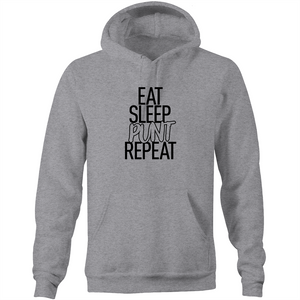 EAT SLEEP PUNT REPEAT - HOODIE