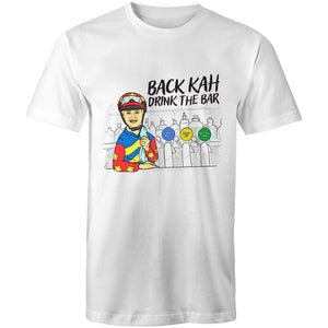 BACK KAH, DRINK THE BAR - TSHIRT (FRONT)