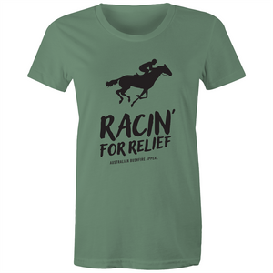 RACIN' FOR RELIEF - BUSHFIRE APPEAL WOMEN'S T-SHIRT