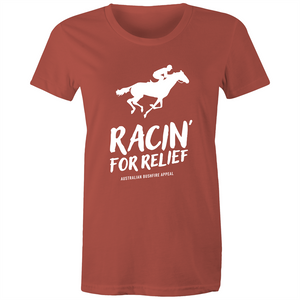 RACIN' FOR RELIEF - BUSHFIRE APPEAL WOMEN'S T-SHIRT (REVERSE)