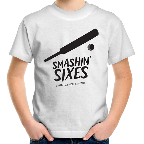 SMASHIN' SIXES - BUSHFIRE RELIEF KIDS YOUTH T-SHIRT