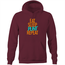 Load image into Gallery viewer, EAT SLEEP PUNT REPEAT - HOODIE (DARK MODE)