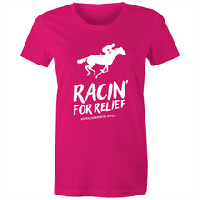 Load image into Gallery viewer, RACIN' FOR RELIEF - BUSHFIRE APPEAL WOMEN'S T-SHIRT (REVERSE)