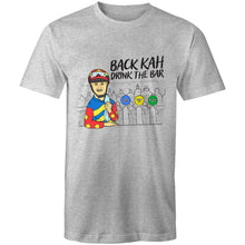 Load image into Gallery viewer, BACK KAH, DRINK THE BAR - TSHIRT (FRONT)