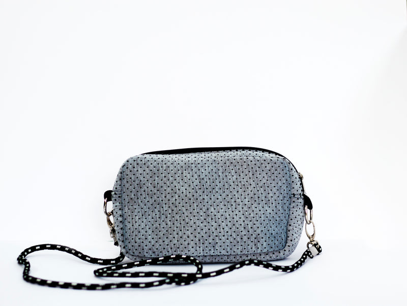 Cross body Neoprene Bag in Gray