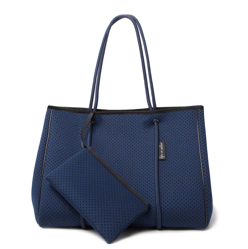 Navy Neoprene Tote Bag with pouch included