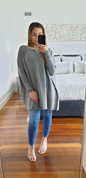 Heide Knit Jumper in Grey