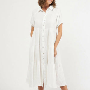 Micah Tiered Midi Dress
