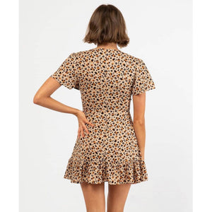 Andrea Mini Dress - Safari