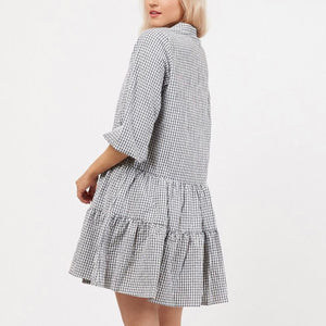 Brooke Dress - Black Gingham