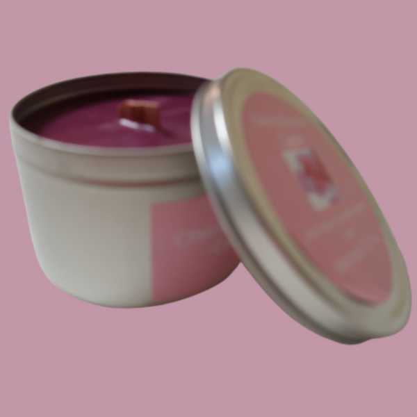 Cherry Blossom 11.5 oz Wooden Wick Soy Candle