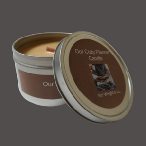 Our Cozy Flannel  Wooden Wick Soy Candle