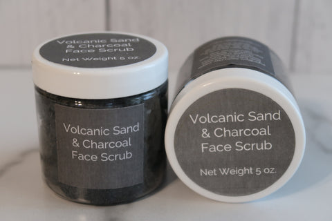 Volcanic Sand & Charcoal Face Scrub