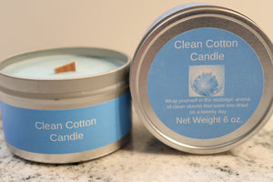 Clean Cotton Wooden Wick Soy Candle