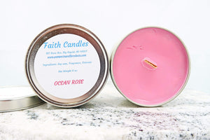 Pamper Yourself Candles Ocean Rose Wooden Wick Soy Candle