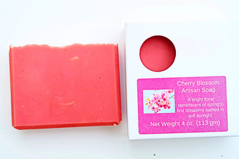 Pampering Self Products Artisan Soap - Floral Cherry Blossom Artisan Soap