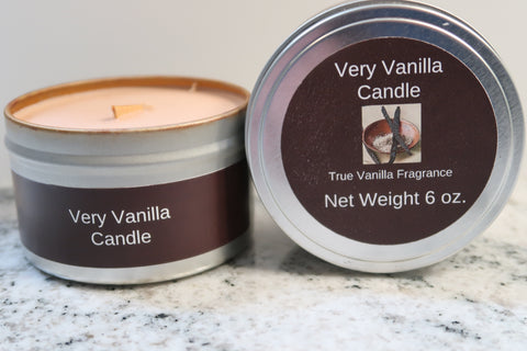 Very Vanilla Wooden Wick Soy Candle