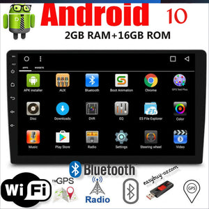 New Android 10.0 Stereo 10 inch Touch Screen GPS FM Radio WiFi 2GB RAM 16GB ROM Bluetooth Head Unit