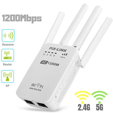 Load image into Gallery viewer, New 1200Mbps Wireless Range Extender WiFi Repeater Signal Booster Dual Band Router For Home Office