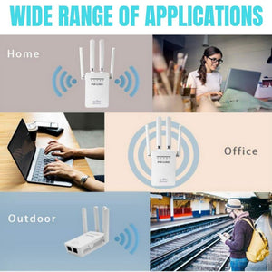 New 1200Mbps Wireless Range Extender WiFi Repeater Signal Booster Dual Band Router For Home Office