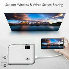 Load image into Gallery viewer, New SmartPhone Mirror Model (Wire/Wireless) Projector 22000 High Lumens [Check Demo Video]