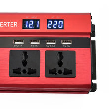 Load image into Gallery viewer, New 2000W Peak Car Power Inverter With LED Display Converter 12V To 220V Camping Outdoor