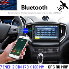 "Load image into Gallery viewer, 7"" Double 2 DIN Car MP5 Player Bluetooth Touch Screen Stereo FM Radio GPS AU MAP"
