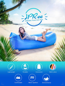 Inflatable Air Bag Sofa Lounge Sleeping bag Camping Bed Outdoor Beach Hangout