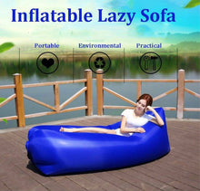 Load image into Gallery viewer, Inflatable Air Bag Sofa Lounge Sleeping bag Camping Bed Outdoor Beach Hangout