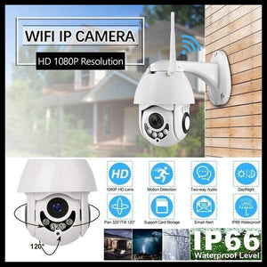 New IP Camera 2 Way Audio WiFi 1080P IR Camera Outdoor Security Surveillance