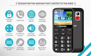 3G SENIORS SOS BIG BUTTON PHONE WITH CAMERA & SOS BUTTON AUS UNIWA