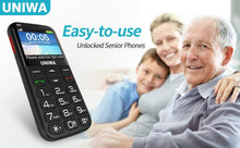 Load image into Gallery viewer, 3G SENIORS SOS BIG BUTTON PHONE WITH CAMERA & SOS BUTTON AUS UNIWA