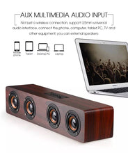 Load image into Gallery viewer, Home Theatre Wireless Bluetooth Speakers 12W Hifi Wooden Stereo Subwoofer Audio Desk