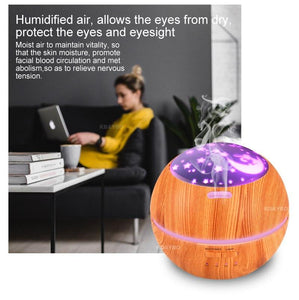 Ultrasonic Home and Office/Aromatherapy Oil Diffuser Light Ultrasonic Air Humidifier
