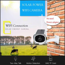 Load image into Gallery viewer, Full HD 1080p Solar WiFi P2P Outdoor Wireless Security IP Camera Night Vision (No Wire Needed)