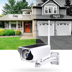 Full HD 1080p Solar WiFi P2P Outdoor Wireless Security IP Camera Night Vision (No Wire Needed)