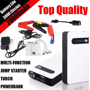 20000mAh Car Jump Starter Emergency Charger Booster Power Bank Battery Portable