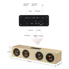 Load image into Gallery viewer, High-power Wooden Bluetooth Speaker With Four Horns Support Hands-free Calling