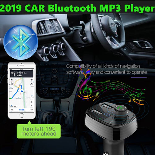 Wireless Bluetooth 4.2 Car MP3 Player FM Transmitter Handsfree LCD Dual USB Charger