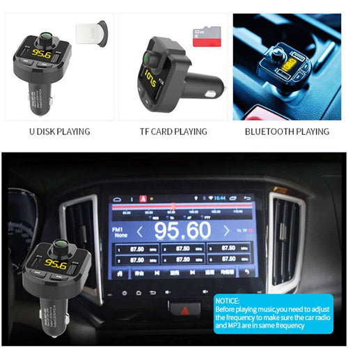 New Car MP3 Player Charger FM Transmitter Bluetooth Hands-free Kit Play Music in Car Stereos